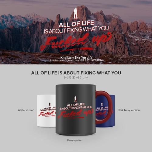 Typography Design - Coffee Mug