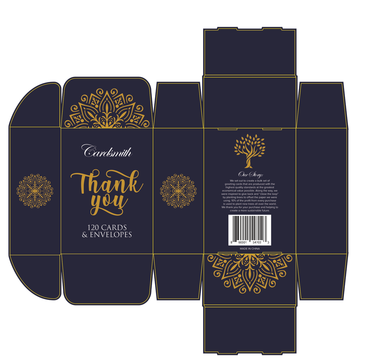 Box Design For Set of Thank You Cards