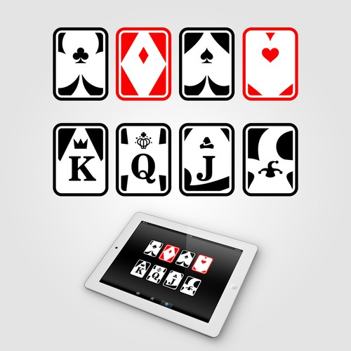 Create fun 'pips' for playing cards (Jack, Queen, King ...)