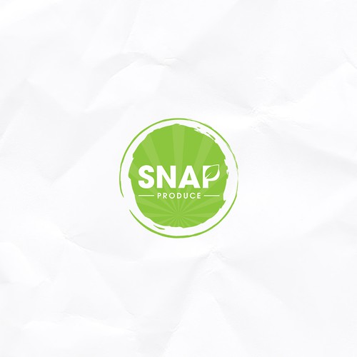 Simple and bold logo design for Snap produce.