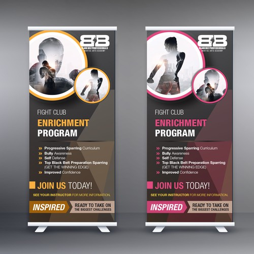 Stand Banner For BBP Martial Arts Academy