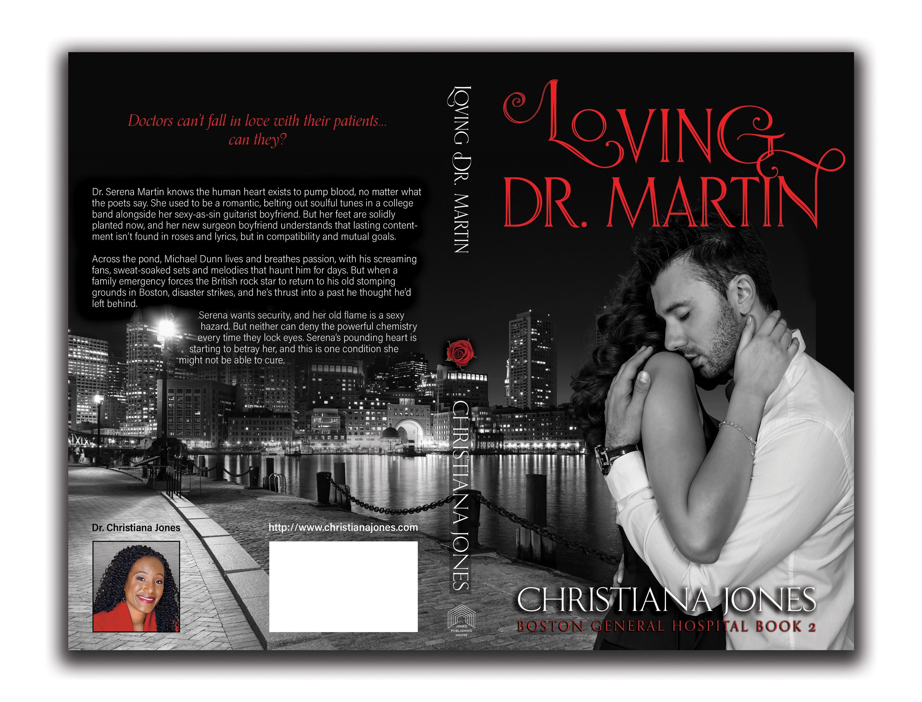 Romance novel book cover design for book 2 of boston general hospital series