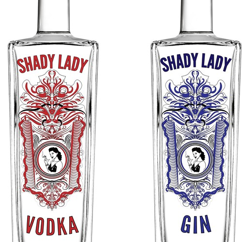 Label for Gin and Vodka