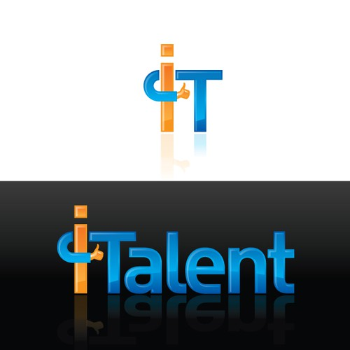 iTalent - a logo for the IT social network web-site