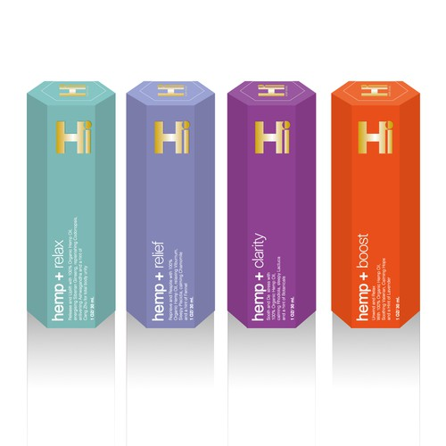 Packaging design for Hi Hemp pharmaceutical extracts