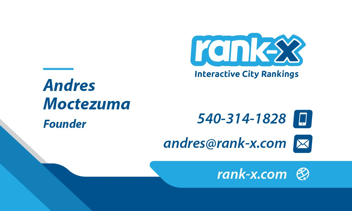 Business card for rank-X
