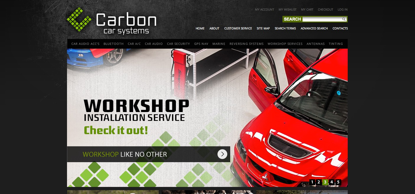 Website Banner Ads for Carbon Car Systems