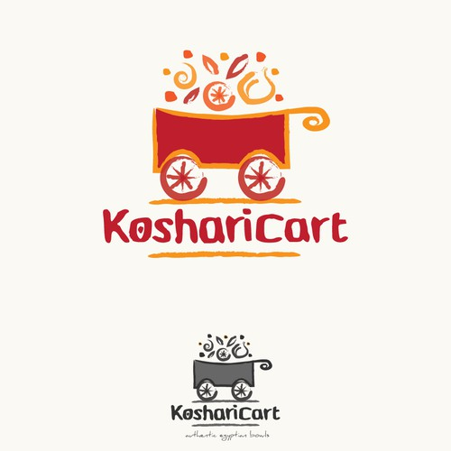 Design for a Koshari (Egyptian) food cart