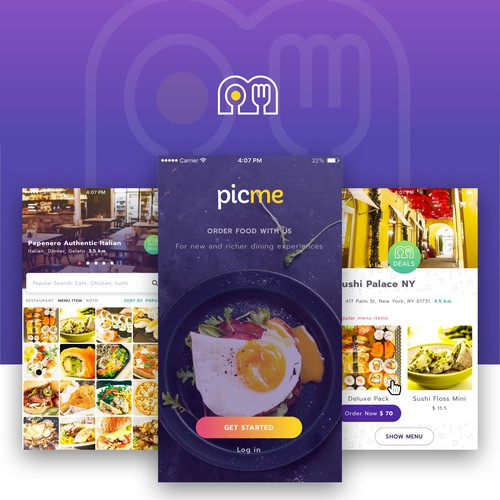 Fun & Yummy food app design