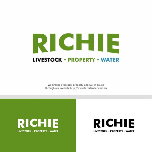 Logo Works For Richie : Livestock-Property-Water