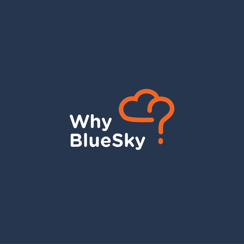 Logo consept for WhyBlueSky - lesson plans, which answer children's questions and offer them to primary and secondary school teachers worldwide.