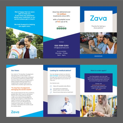 A6 Flyer for healthcare provider.