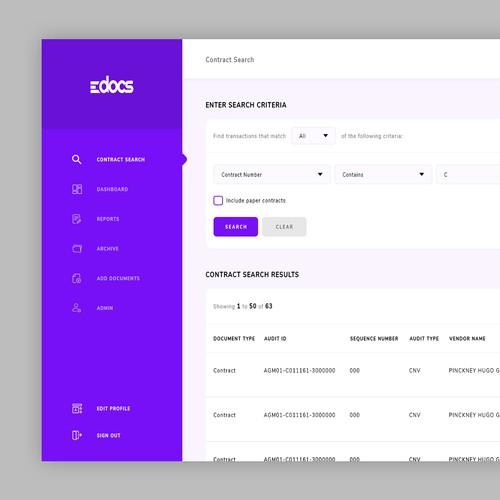 Web App Design for eDocs