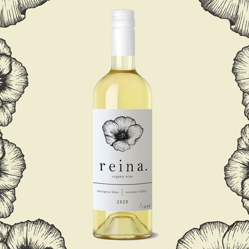 Elegant, simple wine label