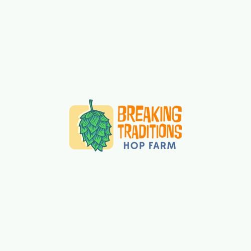 A Modern Hop Farm Logo