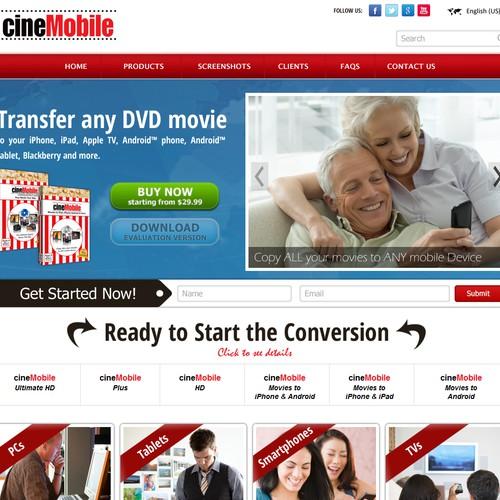 Create the next website design for cineMobile