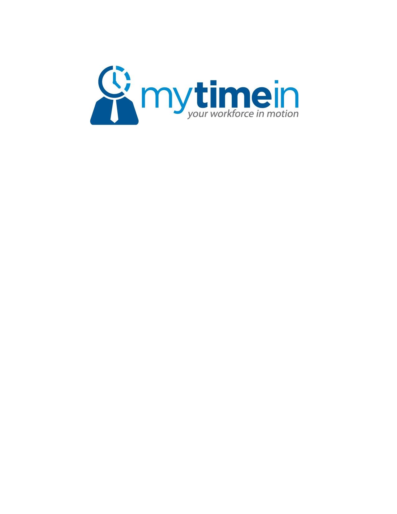 create a time oriented logo for www.mytimein.com employee time tracking
