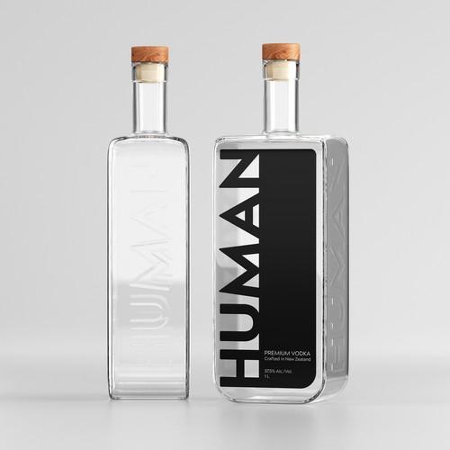 The Human Premium Vodka Label Design
