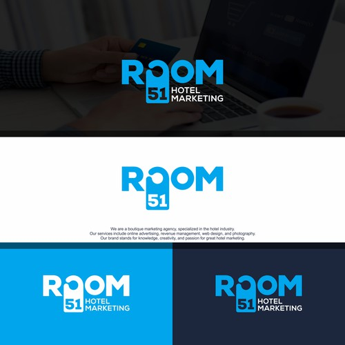 Room 51 - Design a clear and elegant logo for a marketing agency for boutique hotels.