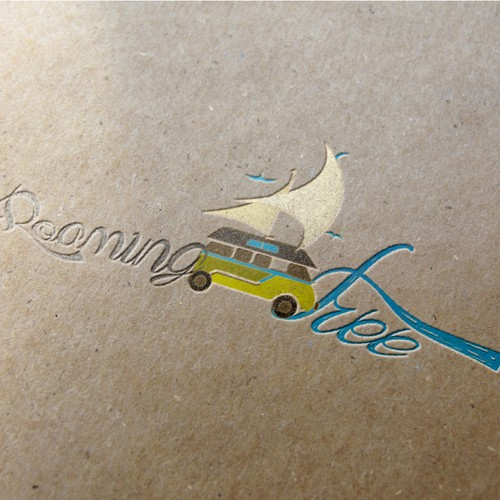 Creative logo for world travelers blog site - Roaming Free