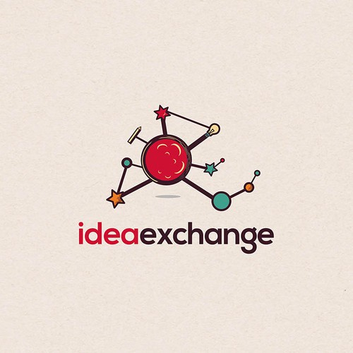 Logo creation internal innovation initiative called IdeaExchange for national construction firm