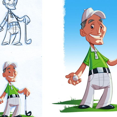 Create an avatar/character for new Golf Website