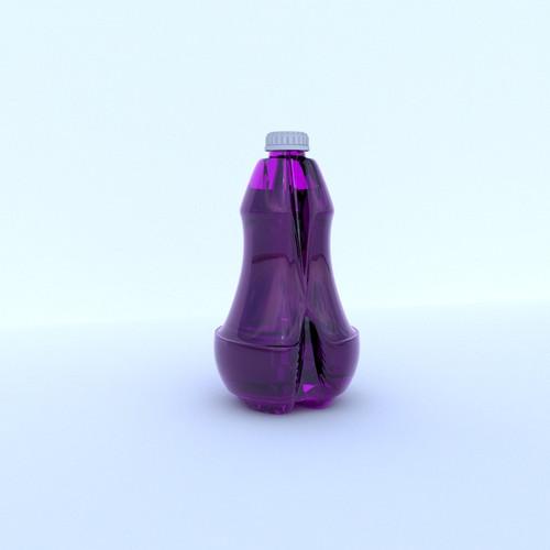 Réalisation d'une bouteille à 2 côtés
