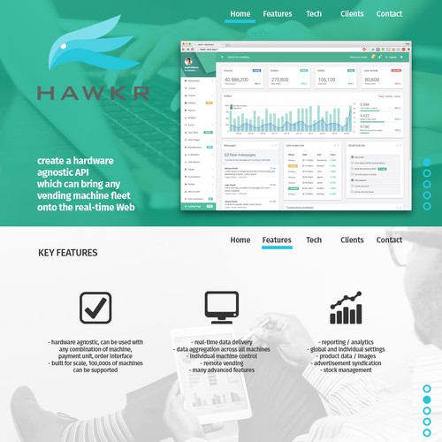 One-page Website Design for Software and Technology Startup