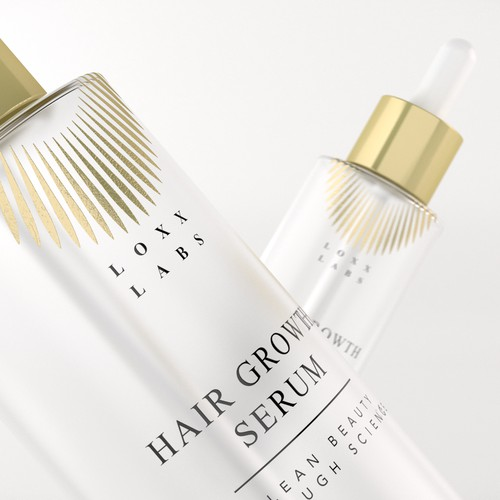 Luxury Cosmetic hair serum label design