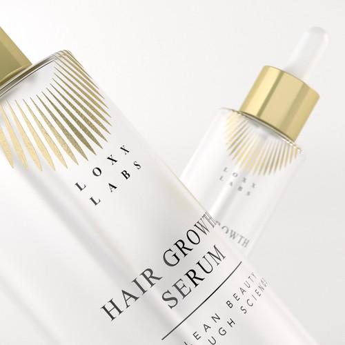 Luxury Cosmetic hair serum label design