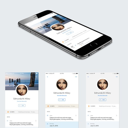 Friendly mobile app with tactile and physical feel