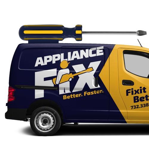 Appliance Fix Services Van Wrap