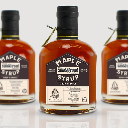 Maple syrup label design