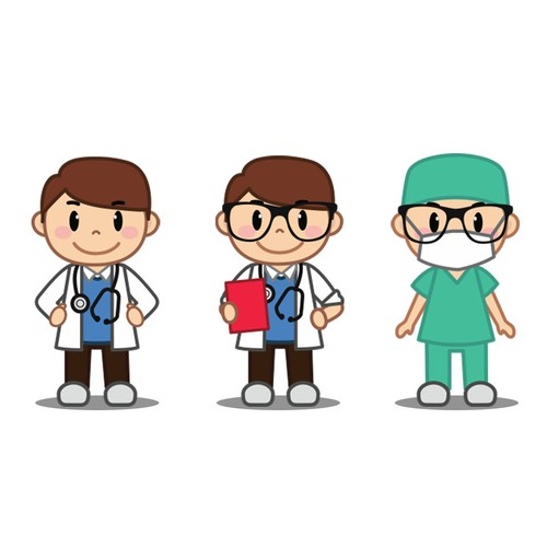 Doctor Mascot Design for YourPediatric.com