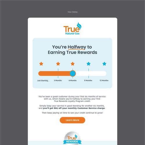 Animated email for True Natural Gas