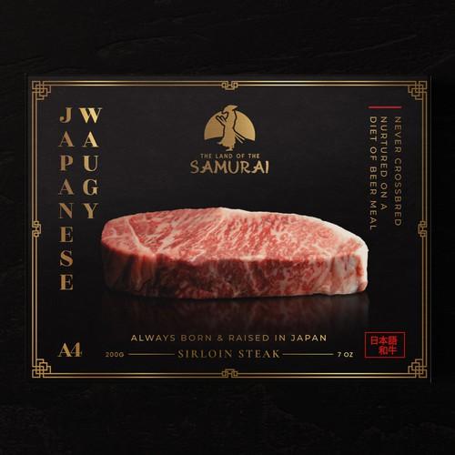Premium meat Japanese waguy packaging design