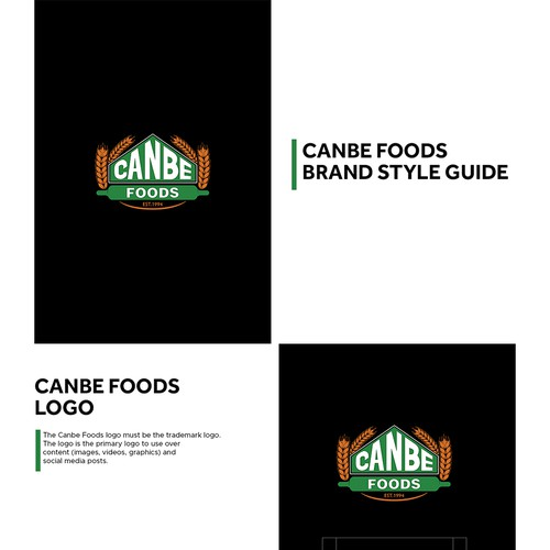Branding Guide For Canbe Foods