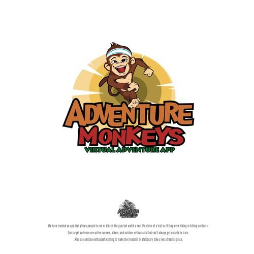 Design energetic logo for Adventure Monkey App