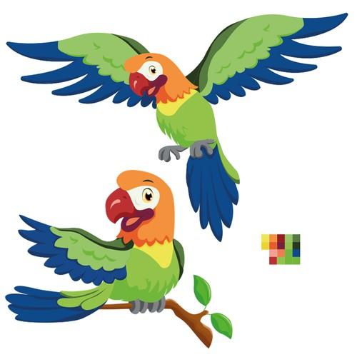 Parrot Mascot Design
