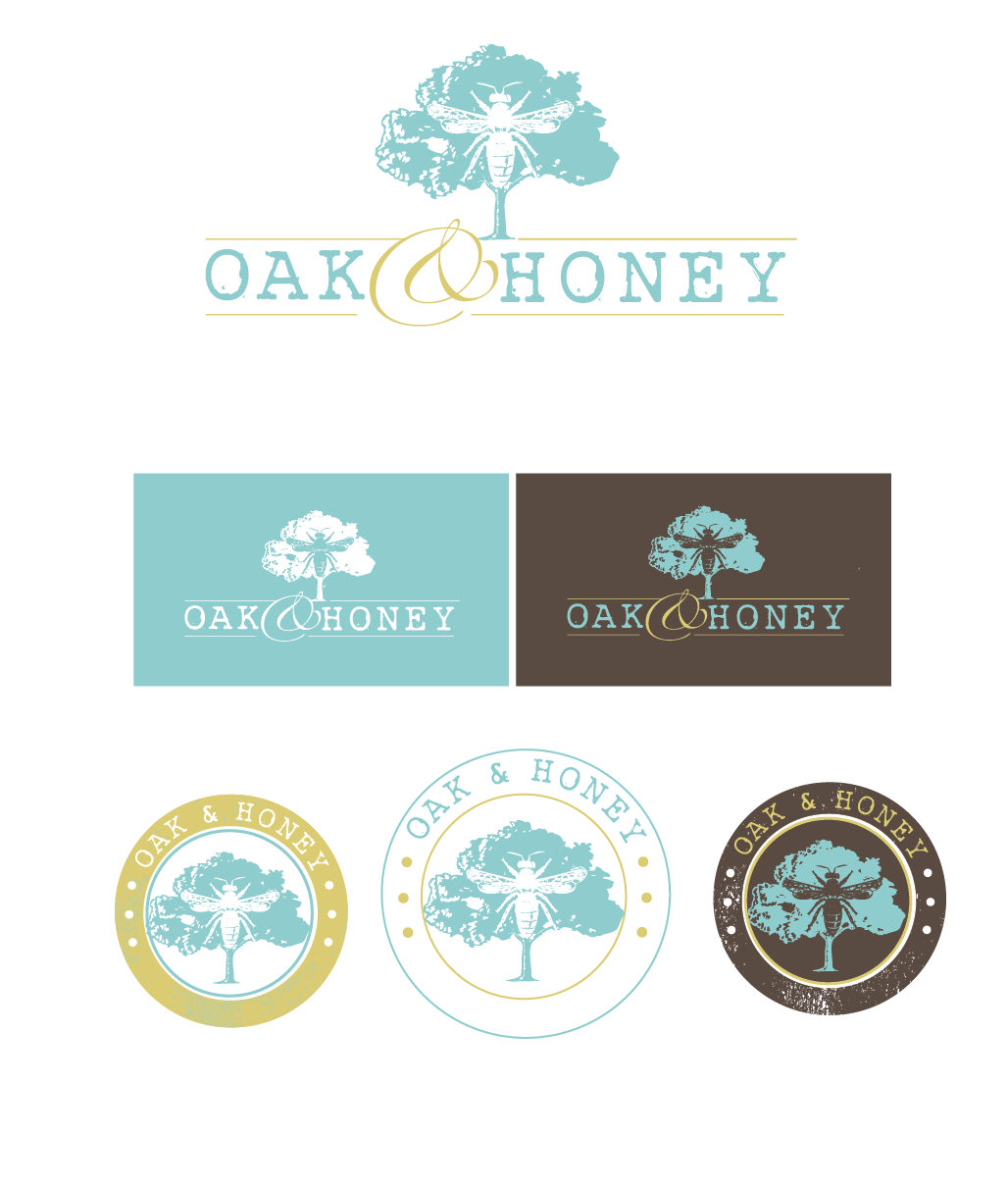 Create the next logo for Oak and Honey