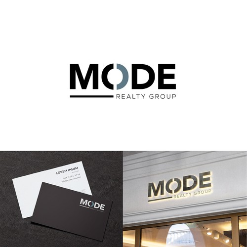 Clean logo design for Mode Realty Group
