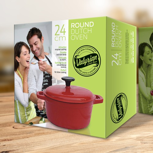 Create a capturing Retail and Logistics Boxes for Cast iron Cookware