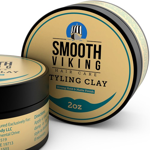 Styling Clay Label Design & 3D Rendering