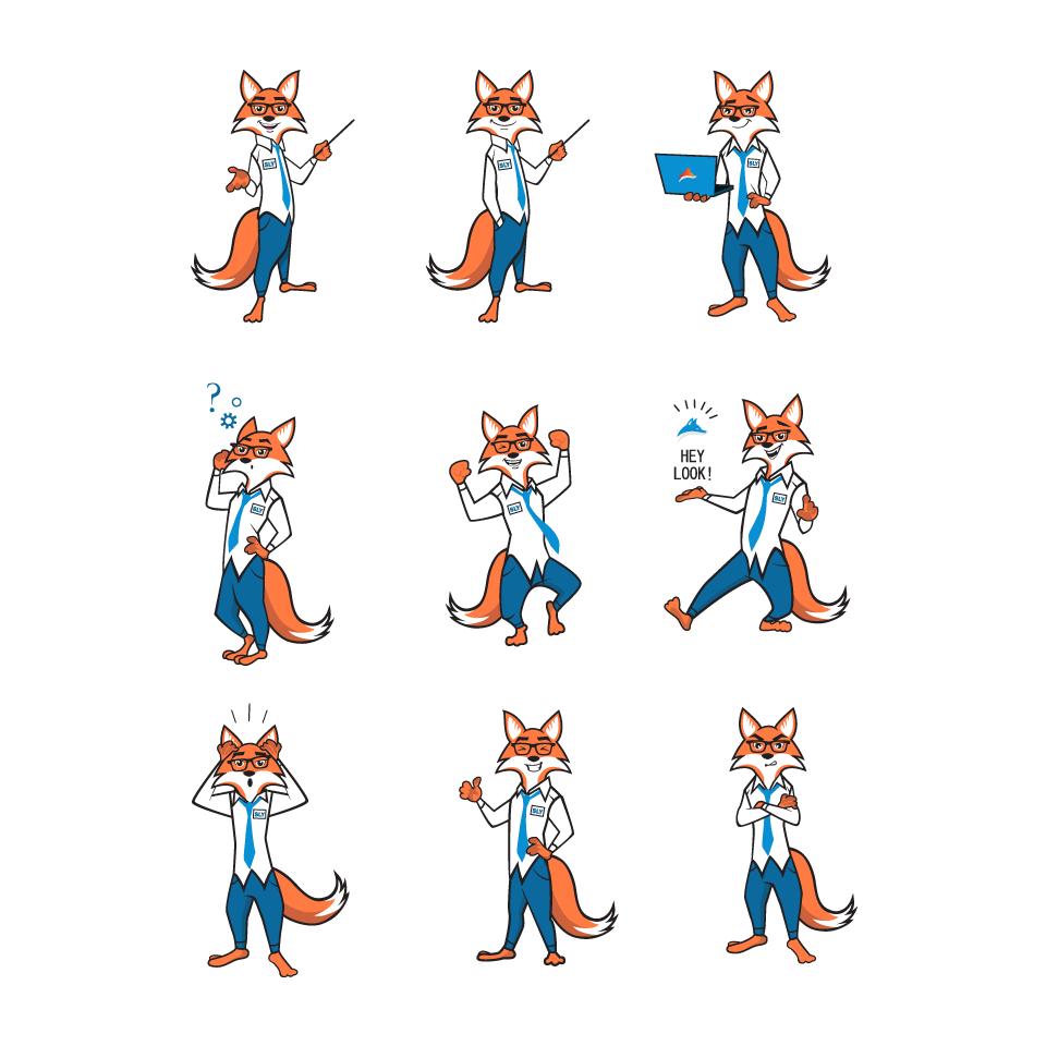 Business fox illustration Sly