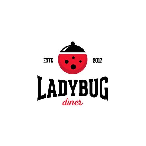 Creative logo for Ladybug Diner.