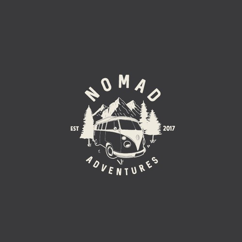 Vintage hipster adventure logos