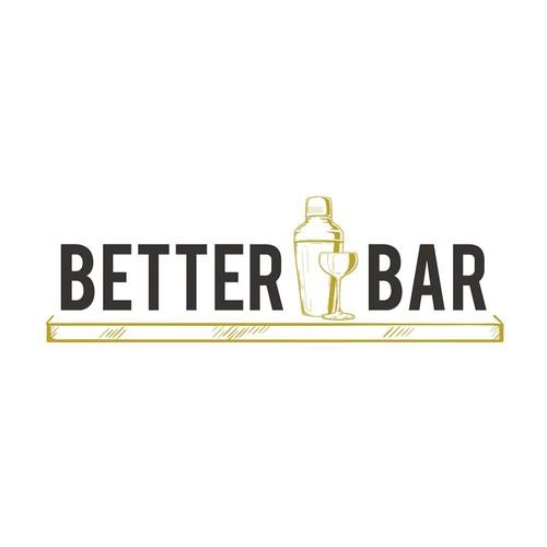 Logo concept for cocktail bar-supply e-commerce