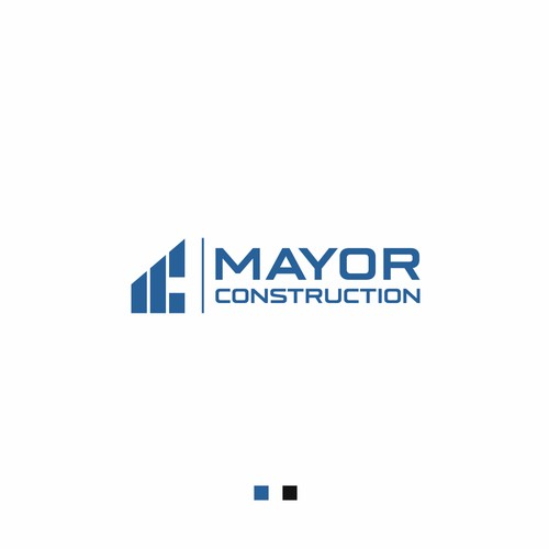 bold first impression logo concept for Construction Company