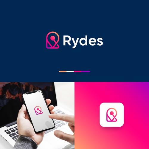 Logo concept for Rydes