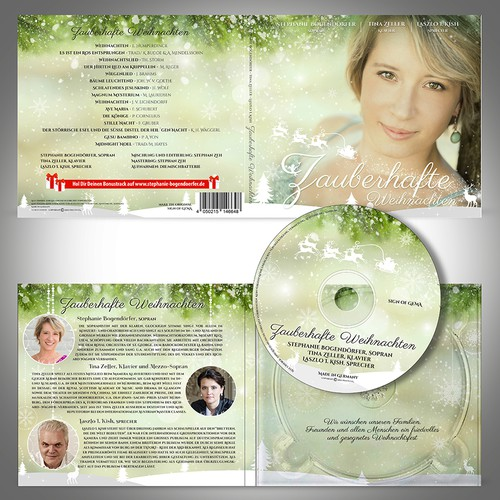 Create a beautiful christmassy Cd cover (4 sides) and disc label